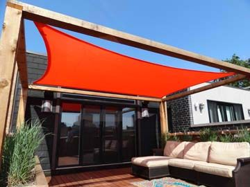 Shade Sail To Cover Patio Jardines Y Patios Velas De