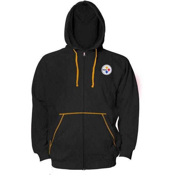 Big & Tall Pittsburgh Steelers Hoodie ($48) ❤ liked on Polyvore featuring men's fashion, men's clothing, men's hoodies, black, mens hoodies, mens sweatshirts and hoodies, mens patterned hoodies, mens tall hoodies and mens big and tall hoodies
