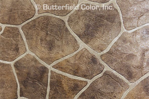 Flagstone Stencil In 2019 Concrete Patio Stencil