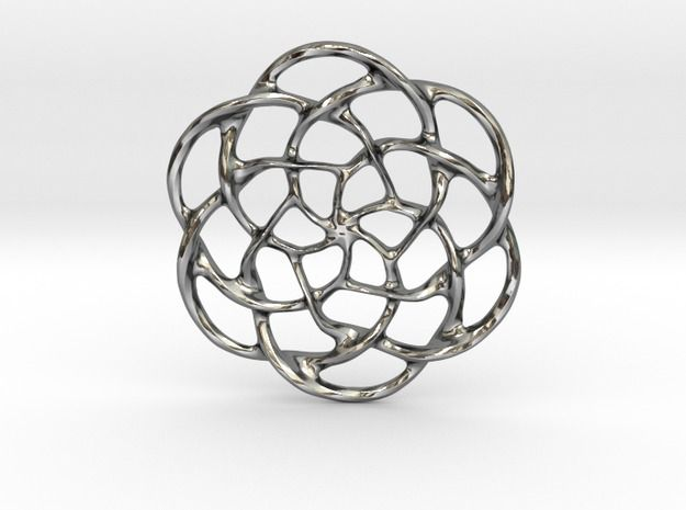 A beautiful pendant inspired by Celtic symbols. http://shpws.me/wCHr #pendant #silver #zawieszka #3D #flambee #celtic #shapeways