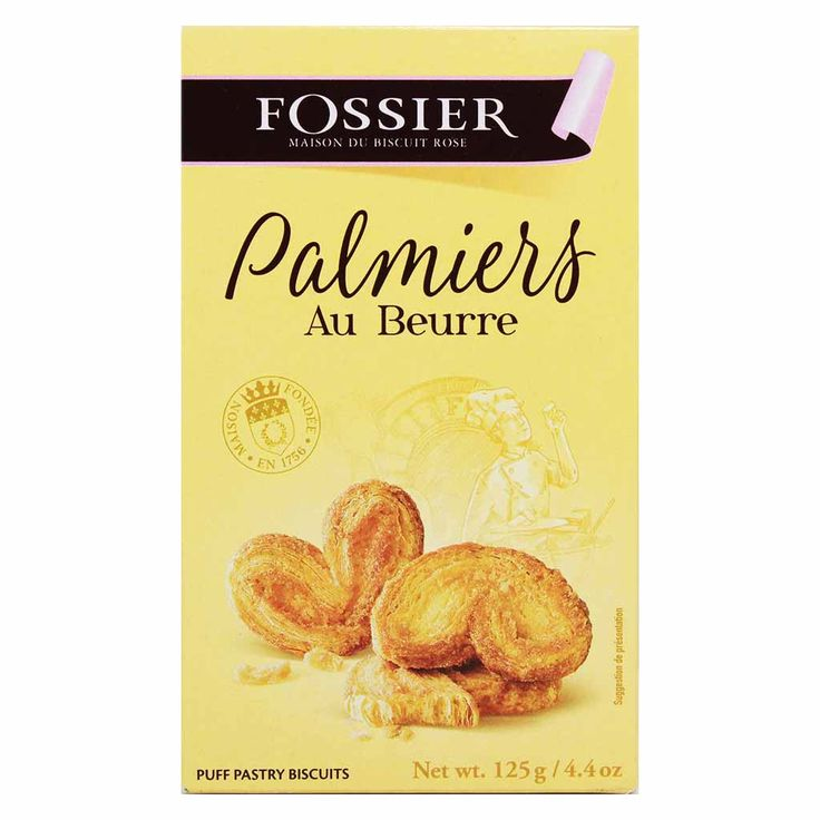 French Palmier Cookies by Fossier 4.4 oz