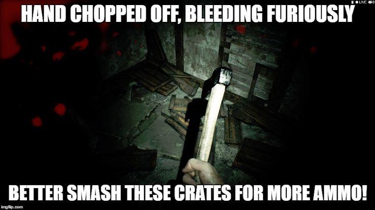 No matter how scary the game is videogame logic will never change. (Resident Evil 7) http://ift.tt/2iZWZCj
