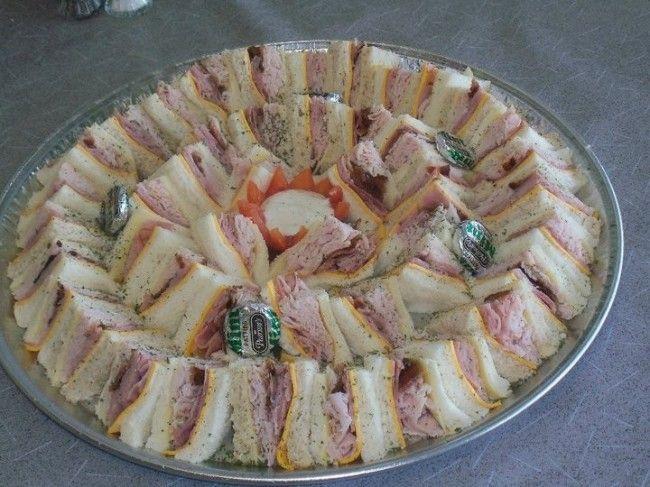 just an idea of finger sandwiches