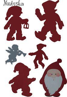 Nuukaska: Tonttu silhuetit - Elf silhouettes