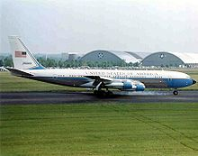 Retired Air Force One SAM 26000. This is the aircraft that flew President and First Lady Kennedy to Dallas. President Lyndon Johnson was sworn in as JFKs successor aboard this plane, and the slain President's body was carried back to Washington DC upon it afterward.