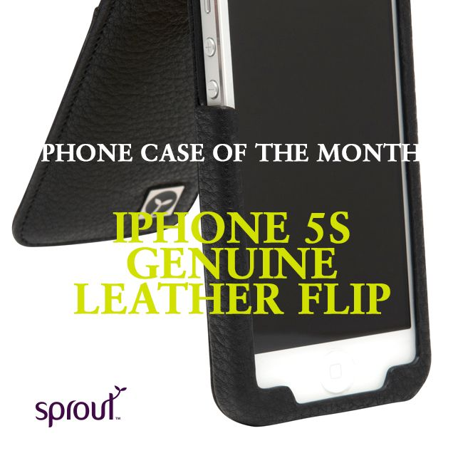 This month the award for phone cover of the month goes to the iPhone 5S Genuine Leather Flip phone case. Click through to find out why. #sprout #freedomtogrow #case #leather #apple #smartphone #iphone #iphone5s #flipcase #case #cover #sproutinc