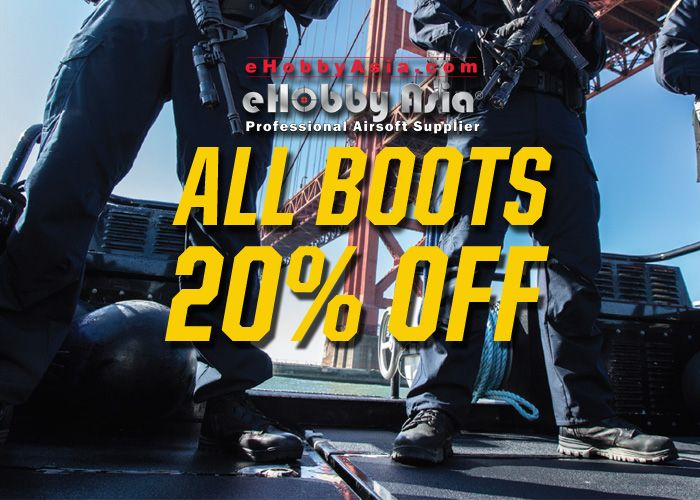 All Boots 20% OFF at eHobby Asia