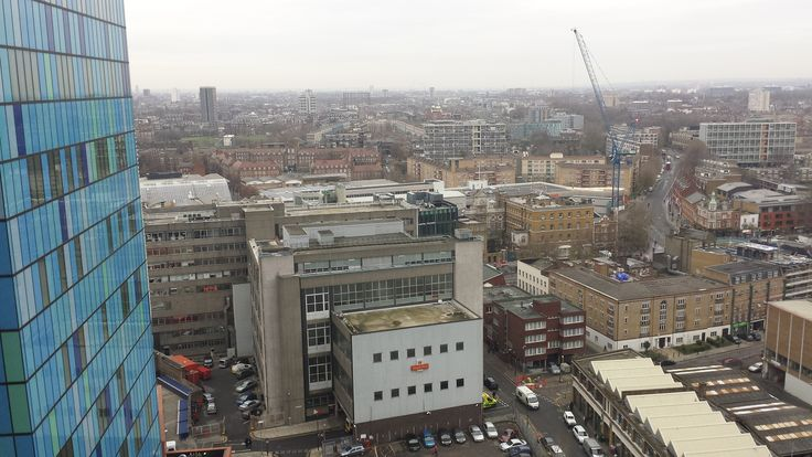 View from upper floors of the Royal London Hospital