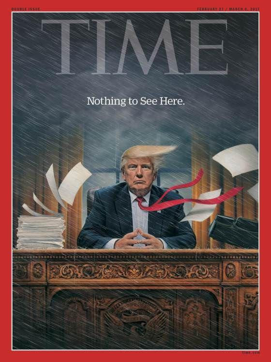 Donald Trump Nothing to See Here Time Magazine Cover
