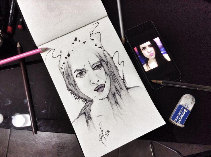 [diabolic talla] bic e matita su carta. 2014