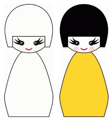 Bambole tradizionali Giapponesi con Inkscape