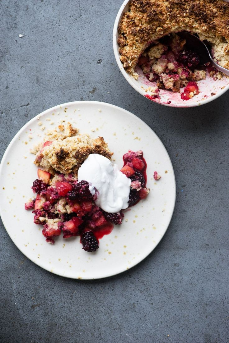 The Detox Kitchen Blackberry and Apple Crumble Recipe: A healthier take on the classic pudding