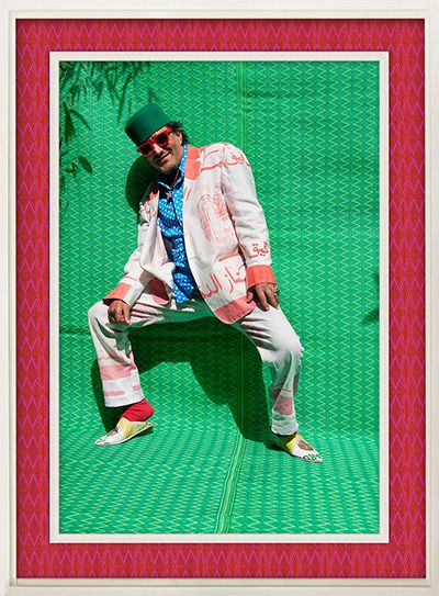 Credit: Hassan Hajjaj Rachid Taha 2011 Metallic lambda print on dibond with wood and plastic mat frame