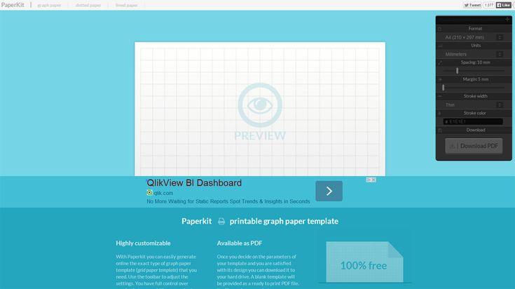 Mit PaperKit können Sie ganz einfach individuelles kariertes, liniertes und punktiertes Papier erstellen, als PDF downloaden und ausdrucken.