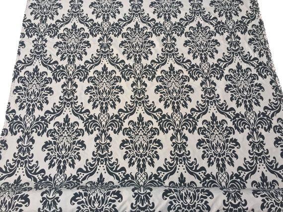 Taupe Beige Damask fabric Victorian Velvet by TheFabricShopUK