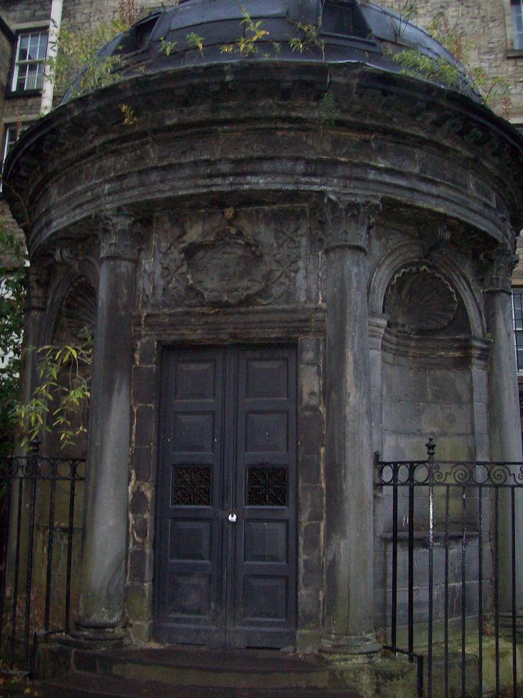 The black mausoleum in Greyfriars Cemetery Edinburgh Scotland  burial site of Bloody George
