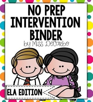 Your time is precious! Intervention should be powerful, purposeful, and easy to prep! This BIG intervention binder for your beginning readers is ink-friendly and can be used over and over again with the use of sheet protectors and dry erase markers.  Intervention tools will be at your fingertips with your time-saving and effective binder!**Download the preview download to get a glimpse of all the sections and activities included in this pack!!**This intervention pack is great to use for ...