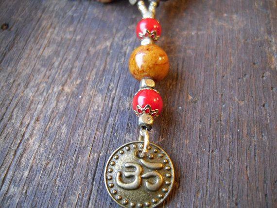 OM/Aum Prayer Beads/Mala/Japa Mala/Yogic by TheReflectivePause, $20.20