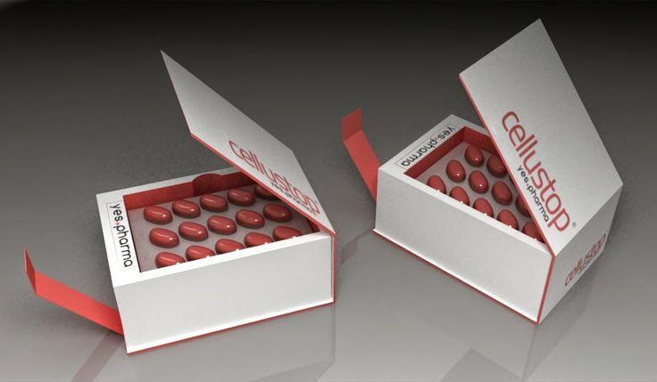 Cellustop pill packaging  Design by Katalin Ercsényi - PIVOT270 art director