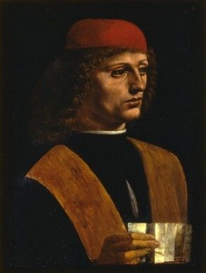 Pinacoteca di Brera_Musico, Leonardo, 1490