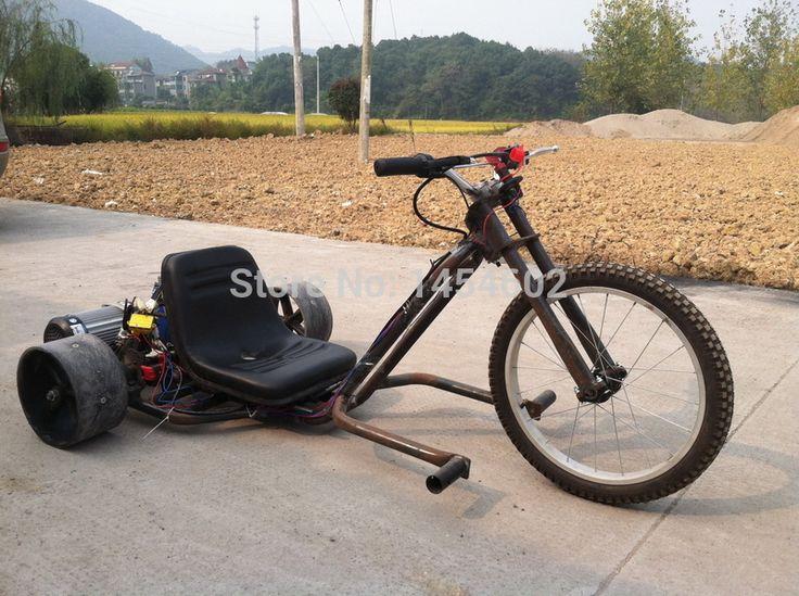 electric drift tirke, electric go kart ,motorized drift trike,  rear-drive drift trike , motorized go kart, fat tire drift trike
