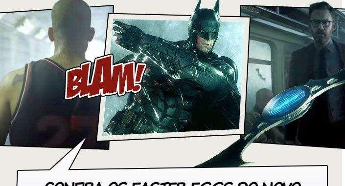 O último trailer de Batman: Arkham Knight contou com algumas cenas em live-action precedendo um pouco do gameplay do jogo. Porém, isso não nos impediu de achar diversos easter-eggs espalhados aqui e acolá. Confira! Você pode conferir o trailer aqui. Fonte: CB