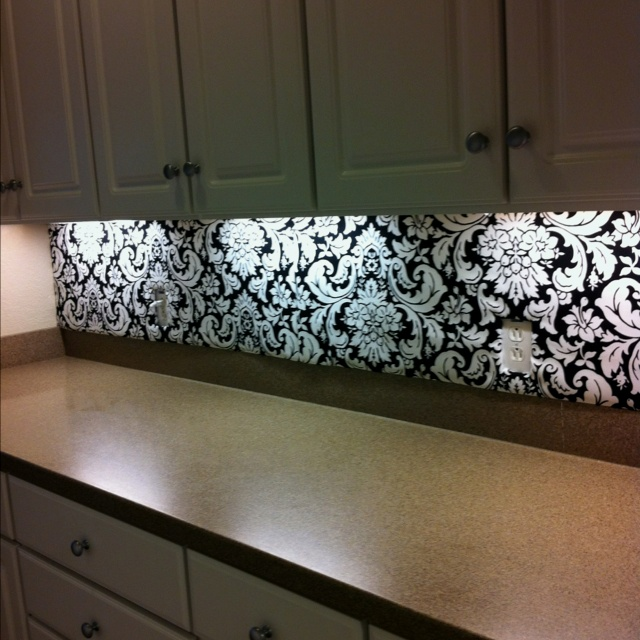 under countertop lighting. butleru0027s pantry back splash covered cardboard with your favorite fabric used hot glue under counter lightingkitchen countertop lighting