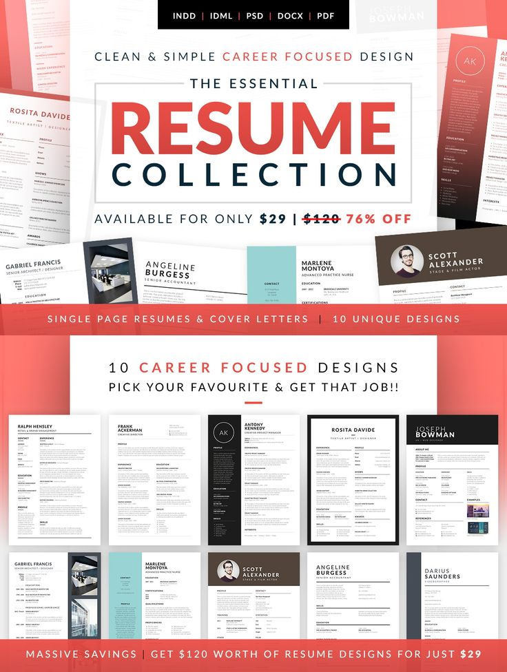 10 Wonderful career focused #Resume designs pick your favorite #template and get dream #Job now !!