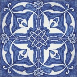 2418 Portuguese handmade majolica tile