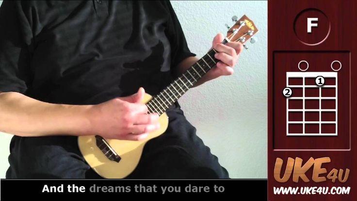 Somewhere Over The Rainbow ( IZ ) - Ukulele Tutorial - Chords, Lyrics - learning how to play the uke :)