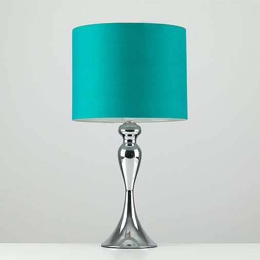 Tesco direct: Faulkner Spindle Touch Table Lamp in Chrome