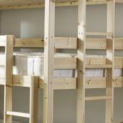 pandora 3ft single 3 tier heavy duty solid pine high triple sleeper bunk bed