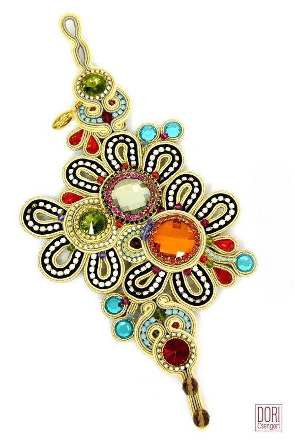Sparkling Flowers oversized collectors floral bracelet #DoriCsengeri…