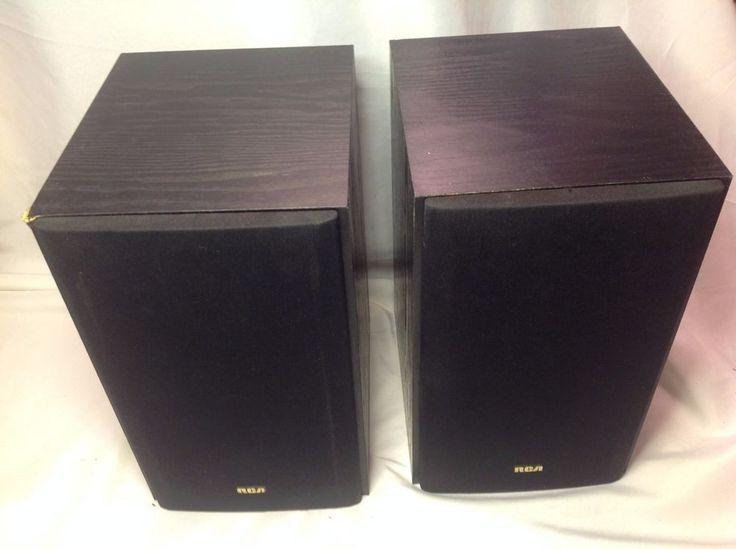 "RCA 40-5014 Black 2-Way Surround Sound Bookshelf Floor Speakers 6"" Subs  #RCA"