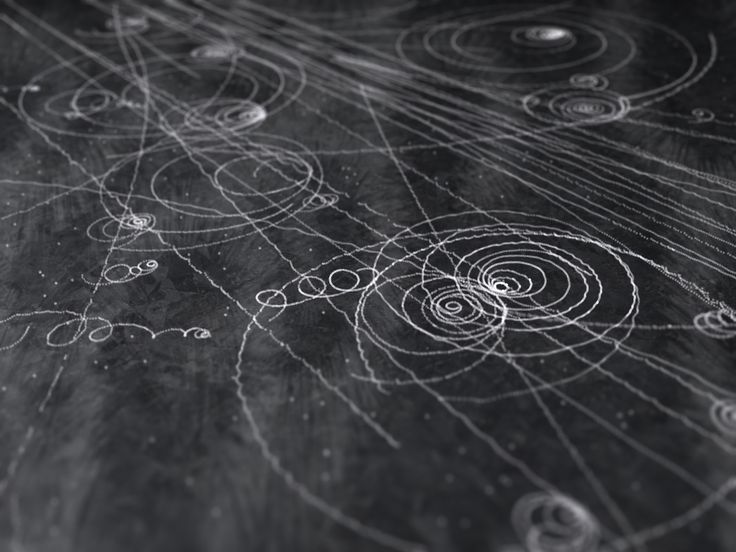 Particle tracks in a cloud chamber, from Things that Quicken the Heart: Circles - Mandalas - Radial Symmetry II