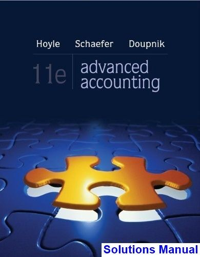 Solutions manual for advanced accounting 11th edition by hoyle solutions manual for advanced accounting 11th edition by hoyle fandeluxe Image collections