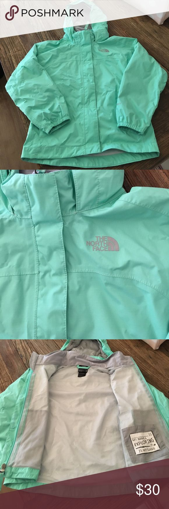 North face kids rain jacket Excellent like new condition, beautiful aqua blue rain jacket. Size 6 xs The North Face Jackets & Coats Raincoats