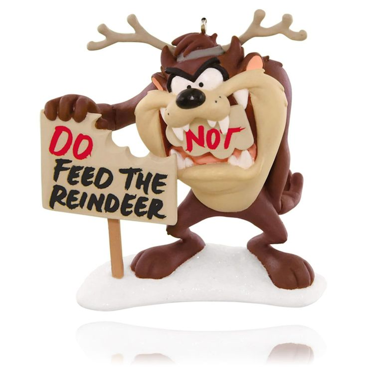 2015 Feed The Reindeer Taz Hallmark Ornament - Hooked on Hallmark Ornaments