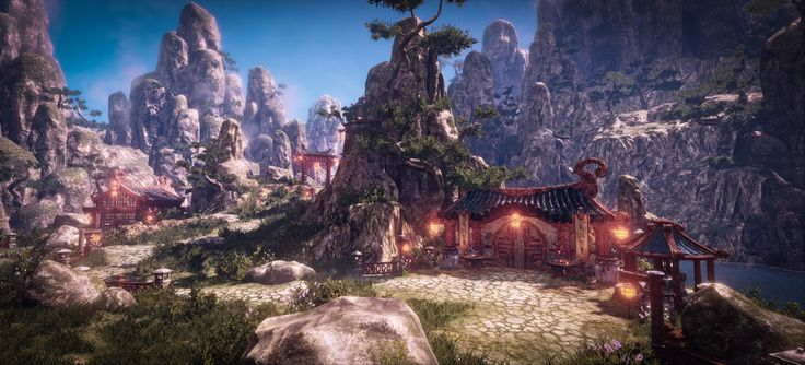 Landscape : In the Mountain - Polycount Forum