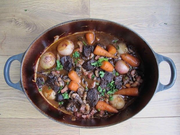 Harry Eastwood's beef bourguignon.