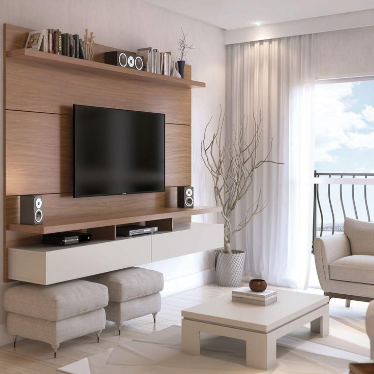 City 1.8 50-Disc Capacity Floating Wall Theater Entertainment Center in