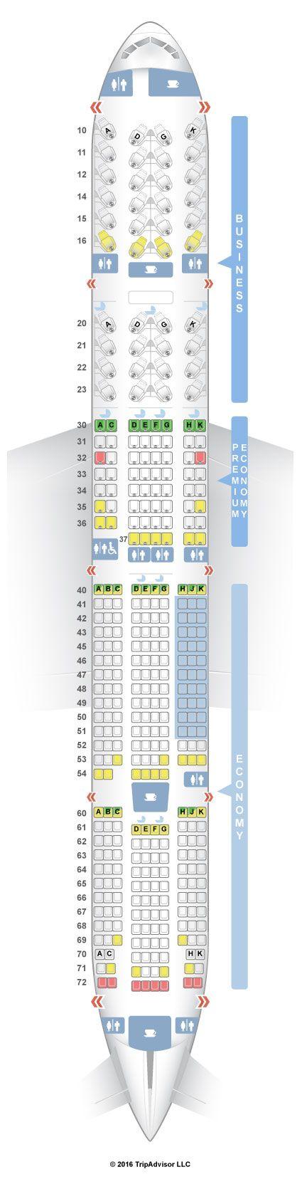 SeatGuru Seat Map China Airlines Boeing 777-300ER (77W)