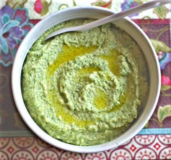 Broccoli Hummus is a bean-free version of the classic dip. #vegan #grainfree #dairyfree @rickiheller