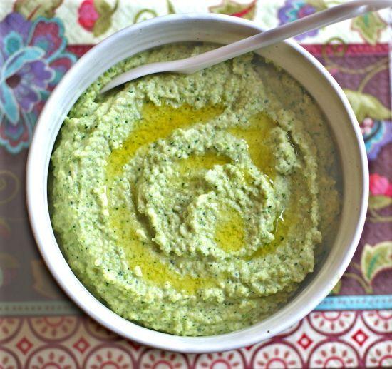 Raw (Bean Free) Broccoli Hummus (vegan, dairy-free, whole foods ingredients)