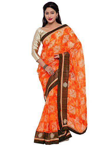 Indian Women orange color georgette sari INDIAN WOMEN http://www.amazon.in/dp/B01NBNKAC7/ref=cm_sw_r_pi_dp_x_py4Byb08C7ZX8