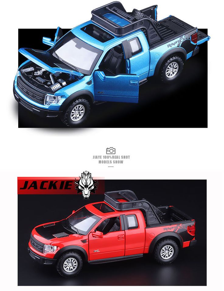 New Ford F150 Raptor 1:32 Pickup truck diecast alloy car toy Flashing Pull Back Toy.