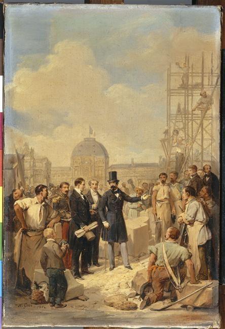 Nicolas Gosse | Napoléon III visitant le chantier du Louvre | Images d'Art