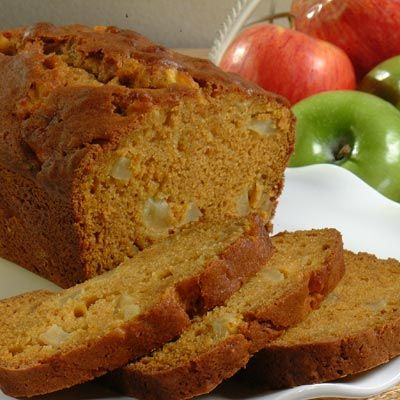 Pumpkin Apple Bread!  I make this almost every fall.  LOVE it.  (and I substitute the oil for apple sauce for less fat!)