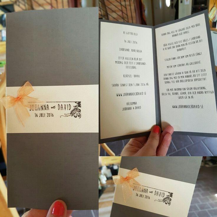 Inbjudningskort. Bröllop 2016.