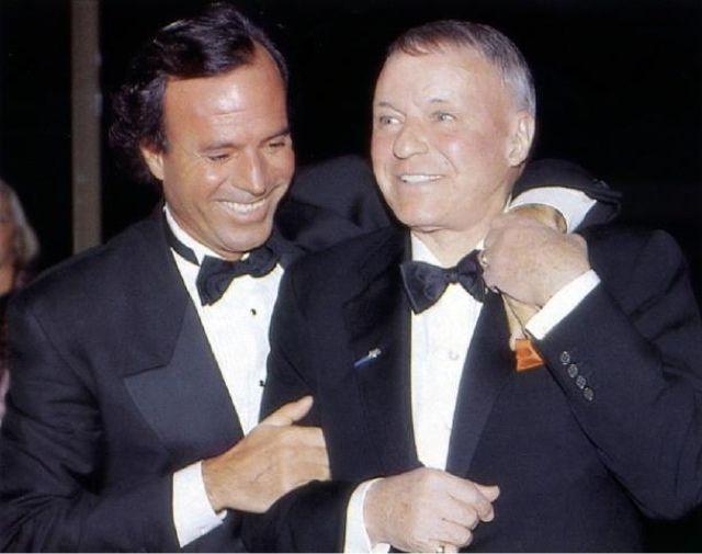 Julio Iglesias and Frank Sinatra. | Rat Pack | Pinterest ...